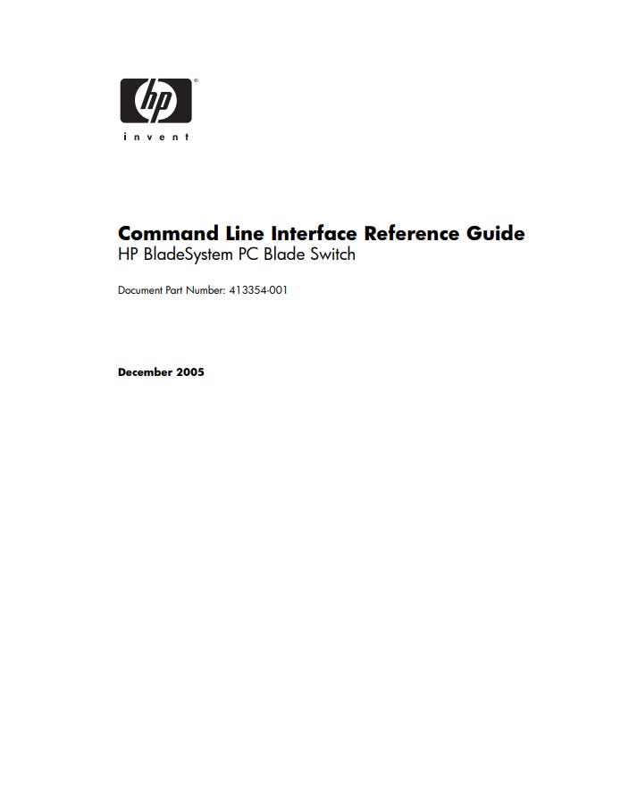 command line interface reference guide
