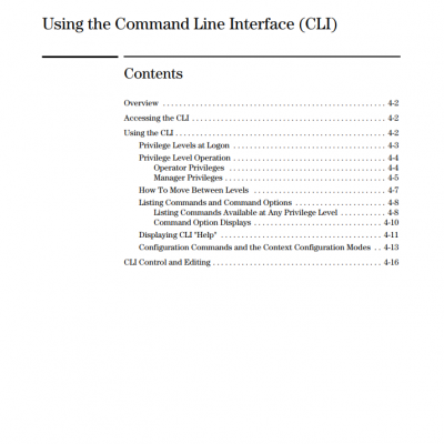 using the command line interface